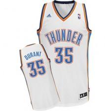 Kevin Durant Oklahoma City Thunder &35 Revolution 30 Swingman White Jersey