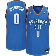 Oklahoma City Thunder &0 Russell Westbrook Revolution 30 Swingman Road Royal Blue Jersey