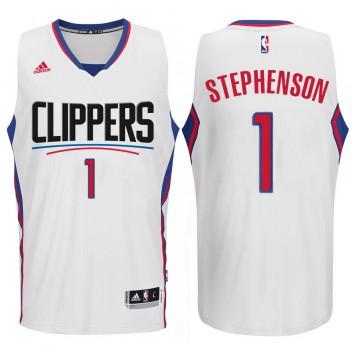 Los Angeles Clippers 2015-16 Saison Nouveau Logo #1 Lance Stephenson Swingman Blanc Maillot