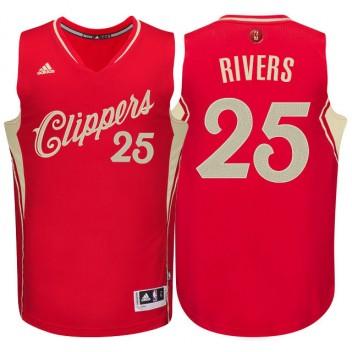 Los Angeles Clippers #25 Austin Rivers Rouge 2015 noël Journée Swingman Maillot