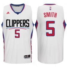 Josh Smith Los Angeles Clippers 2015-16 New Season Logo &5 Swingman White Jersey
