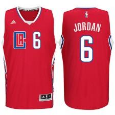 Los Angeles Clippers 2015-16 New Season Logo &6 DeAndre Jordan Red Swingman Jersey