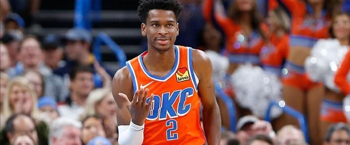 YPKL Maillot de basket-ball Shai Gilgeous-Alexander pour homme et femme Oklahoma City Thunder 23# City Edition Maillot de basket-ball /à s/échage rapide S-XXL